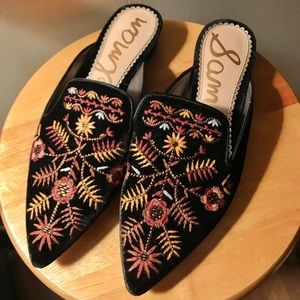 Sam Edelman Ansley Embroidered Mules